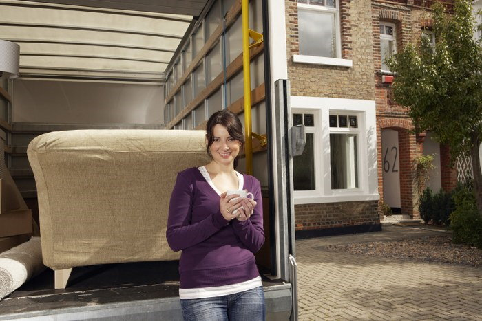 removal van loading
