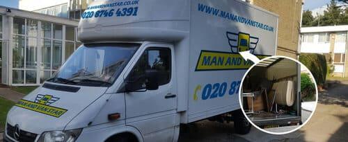 Slade Green moving vans DA8