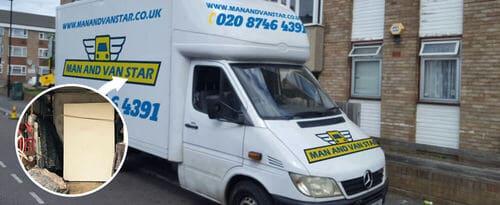 Saffron Hill moving vans EC1