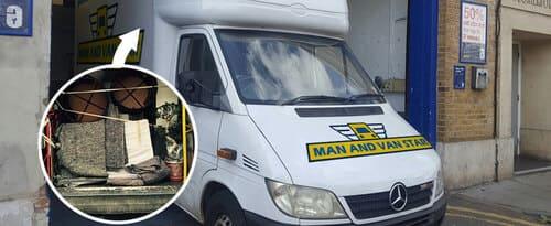 Gunnersbury man and a van W4