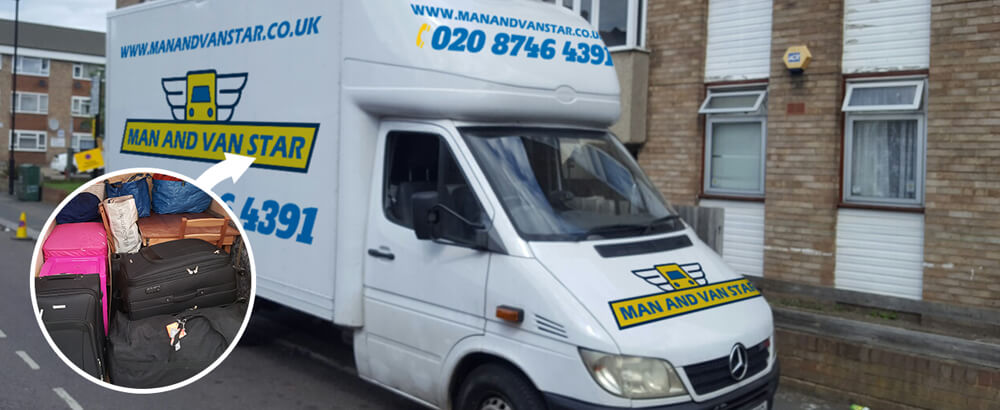 Swiss Cottage removal van NW3