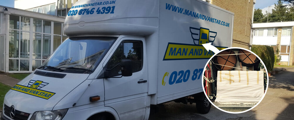 The Burroughs removal van NW4